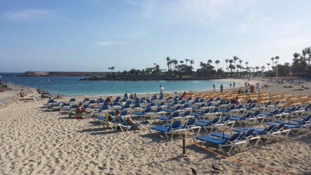 пляж на Гран Канарии